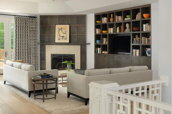 Two white sofas inside rooms