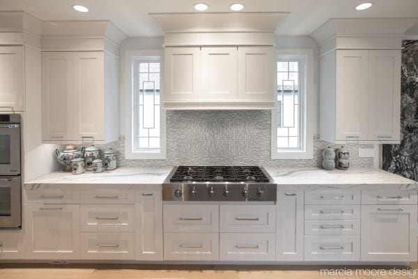 White wooden kitchen area of the house
