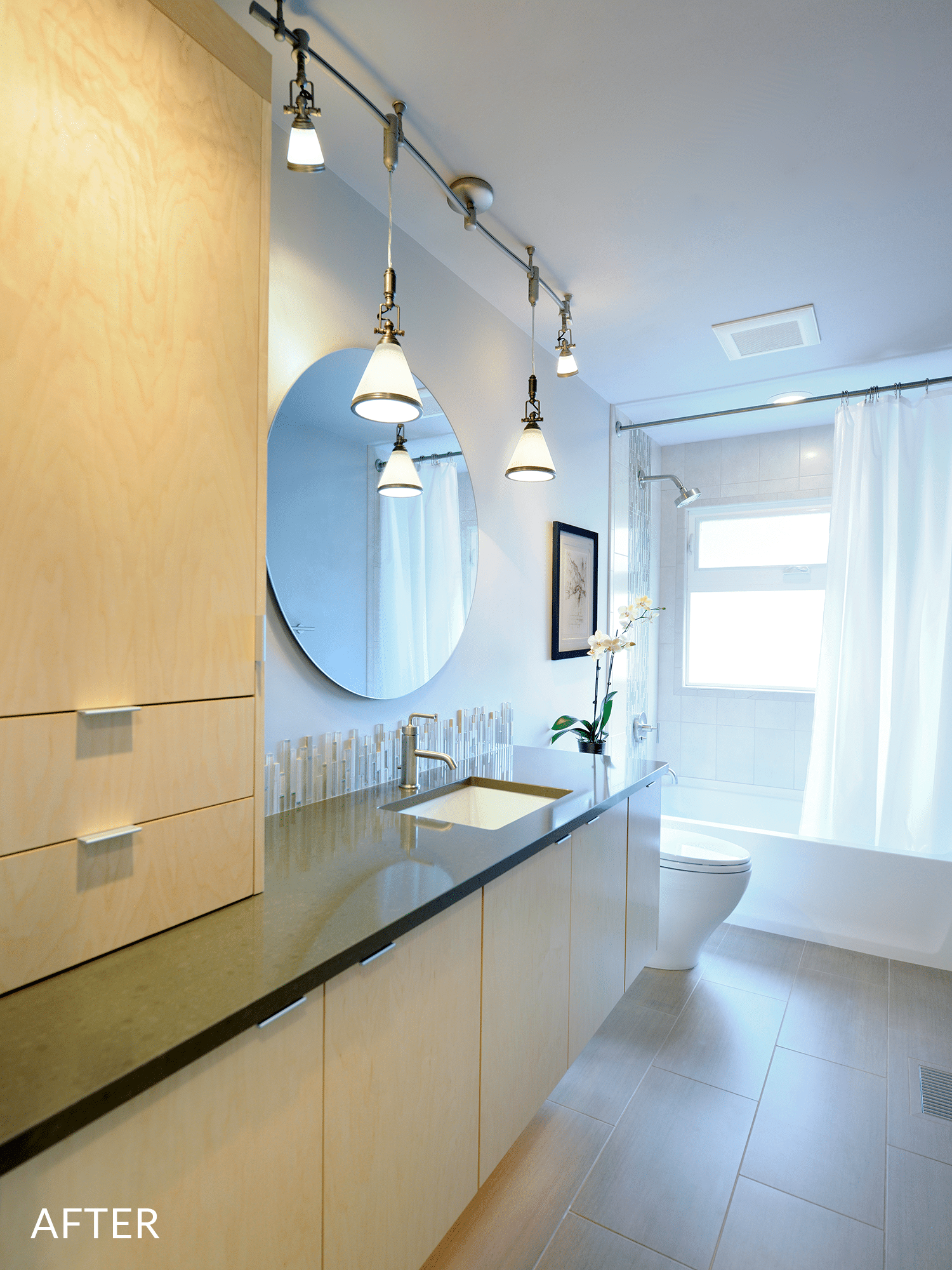 White wooden cupboard and toilet bowl