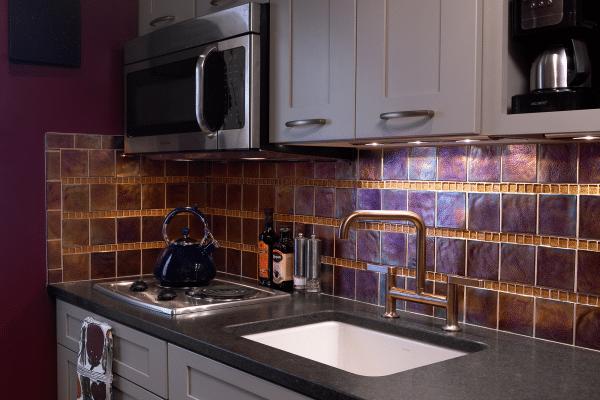 Arranged kitchen