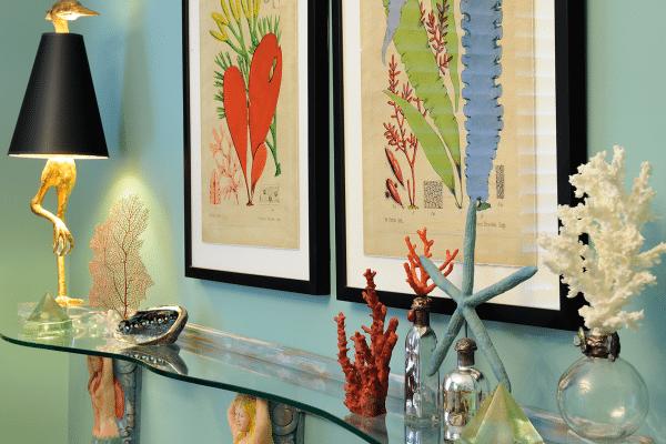 Blue starfish table decor
