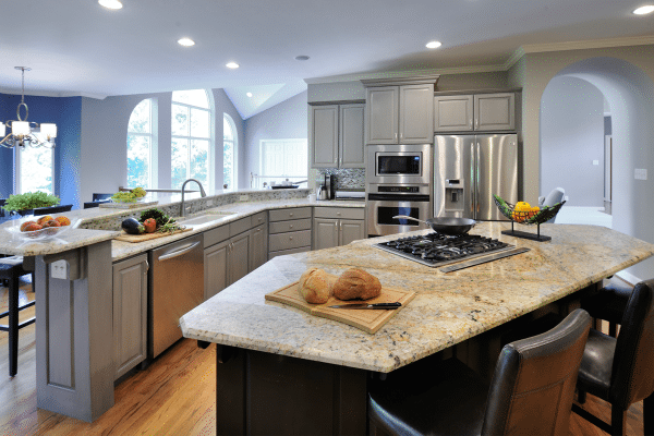 Assorted-color furniture in kitchen