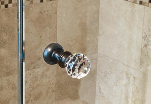 Crystal glass shower knob