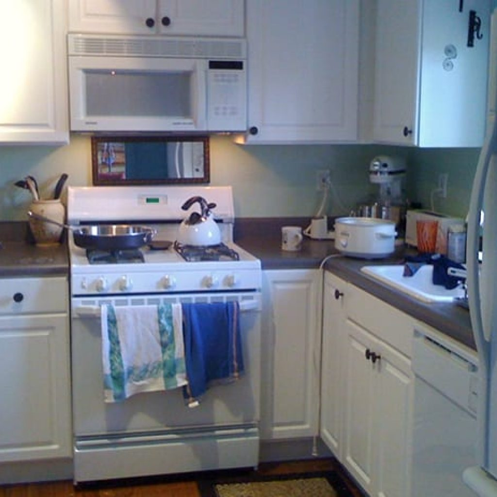 White kettle on range oven