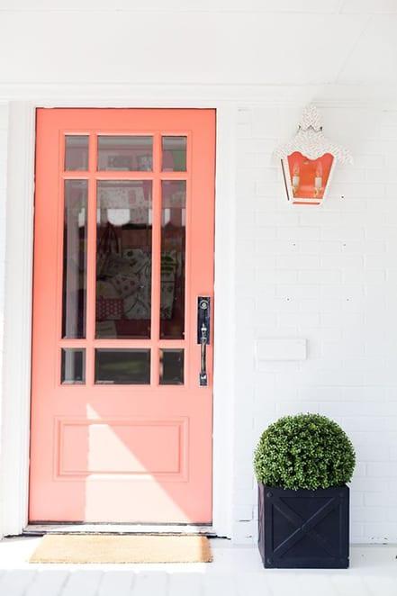 peach front door