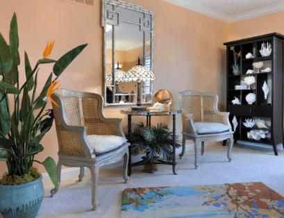 peach sitting room