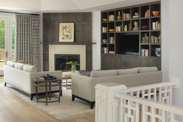 Two gray couches in living room