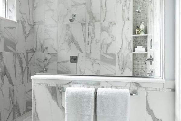 White marble bathtub