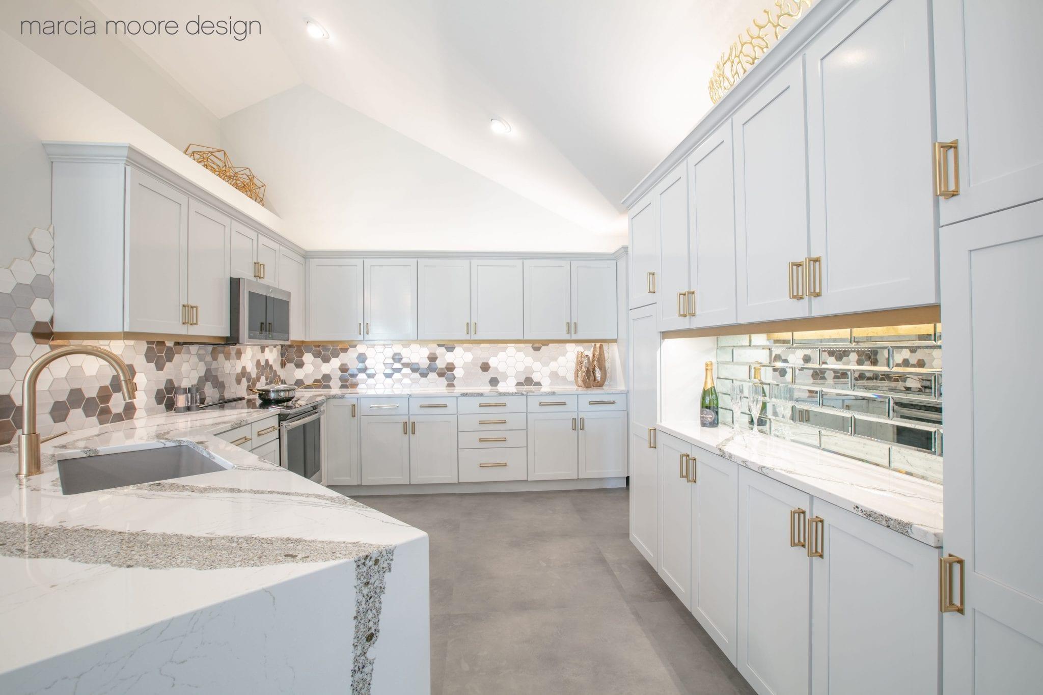 White kitchen room interior design