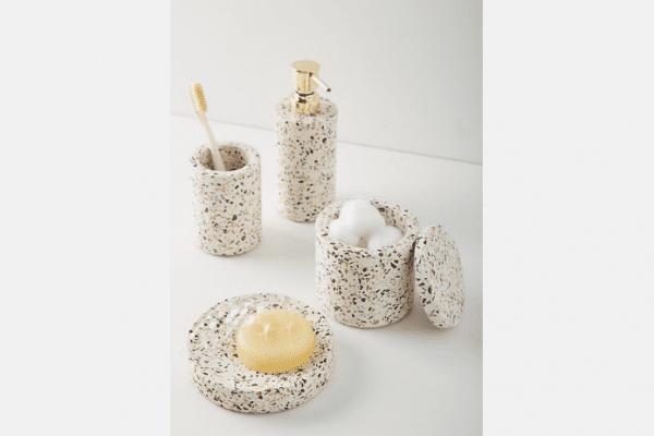 terrazzo bath accessories