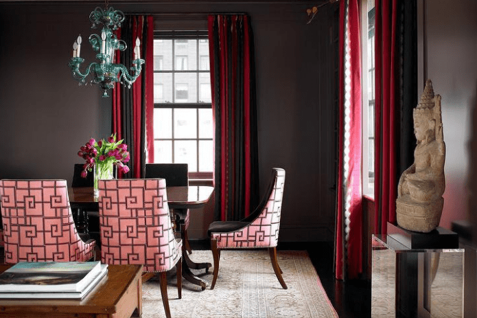 DARK BROWN DINING ROOM