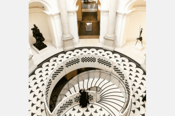 terrazzo staircase rotunda