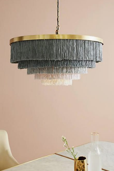 fringed chandelier