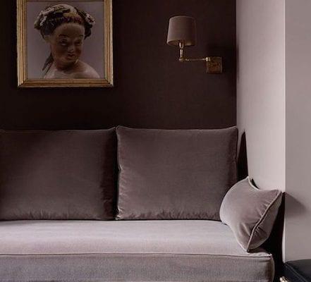 fringed sofa