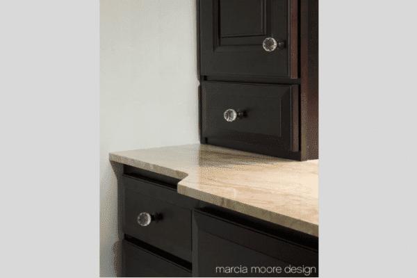closeup of drawer pulls