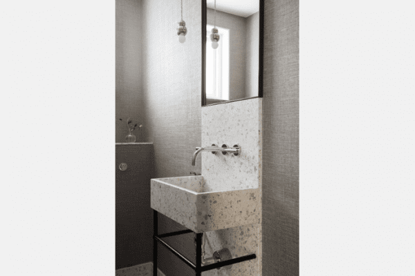 bathroom sink terrazzo