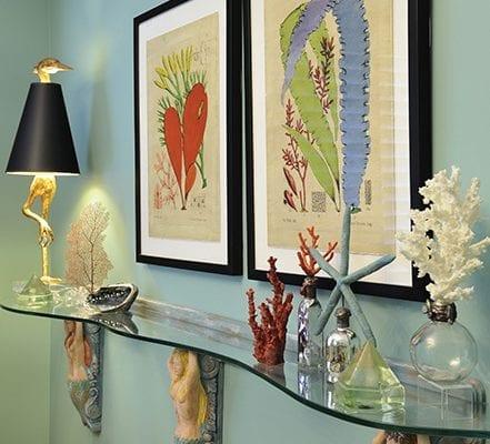 Clear glass floating shelf