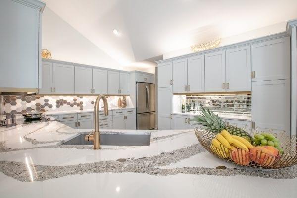 Grey kitchen set