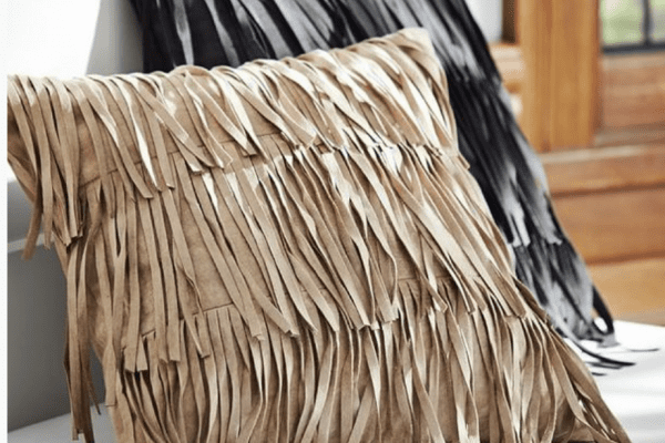 fringed pillows