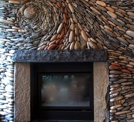 swirl fireplace