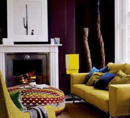 mustard yellow sofa