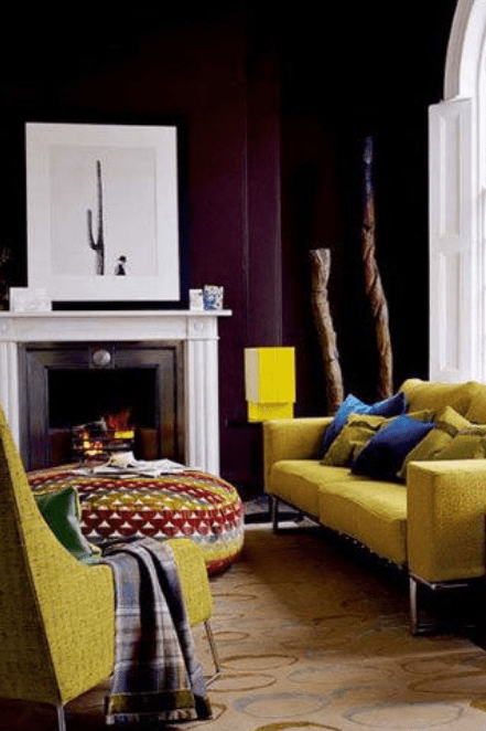 mustard yellow sofa