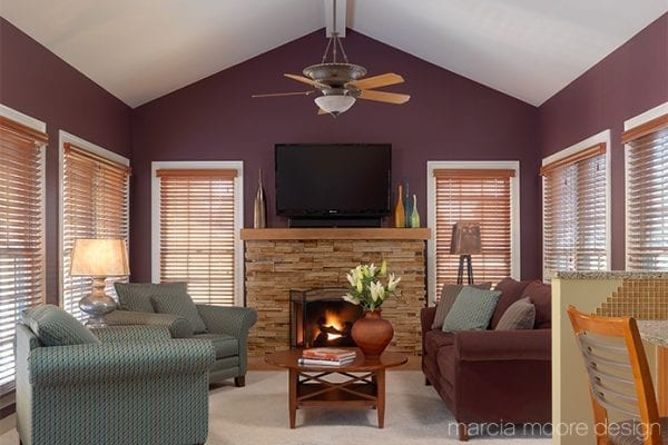purple family room