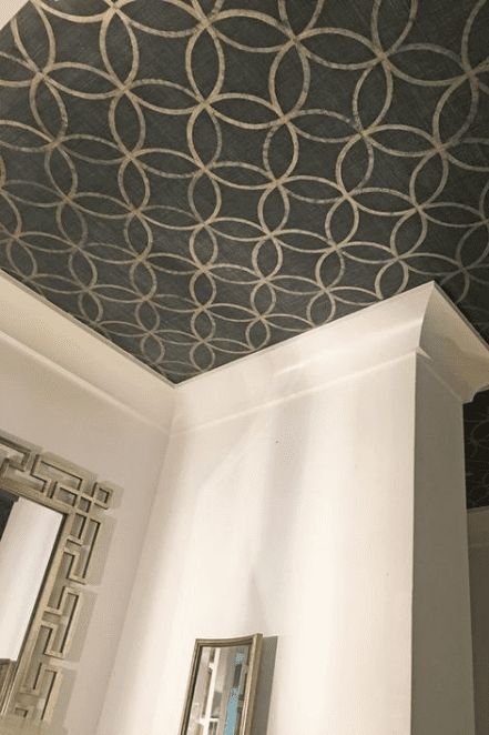black stenciled ceiling