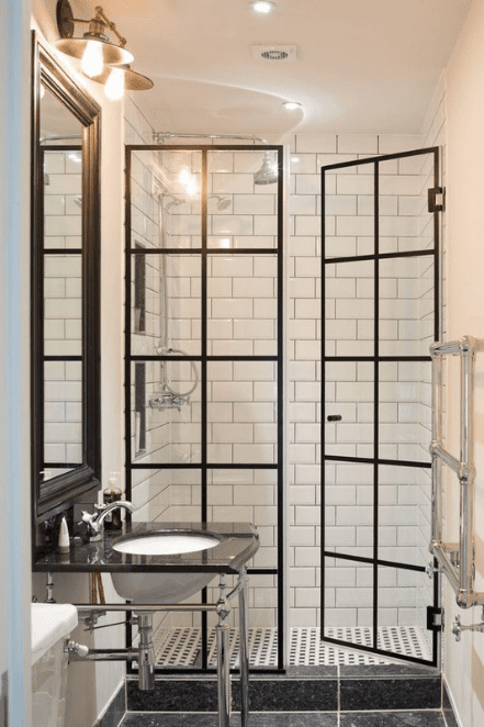 steel shower doors
