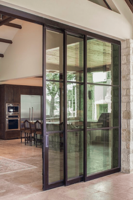 sliding steel door