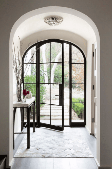 black steel standard entry door