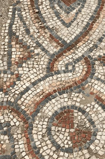 closeup greek mosaic floor