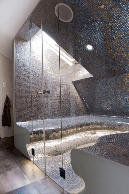 mosaic shower