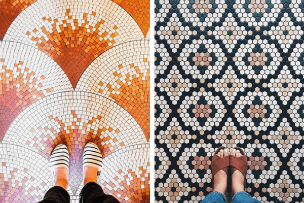 feet on tiles