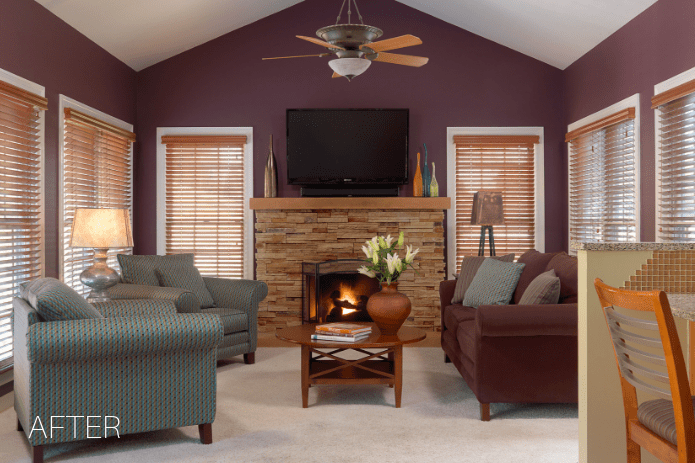 plum family room