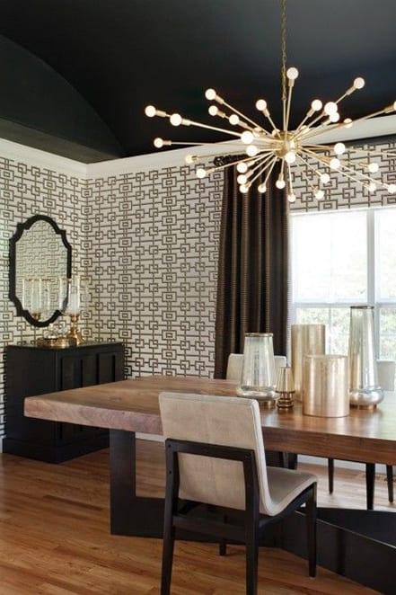 white geometric walls