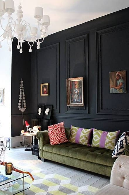 painted black panelling