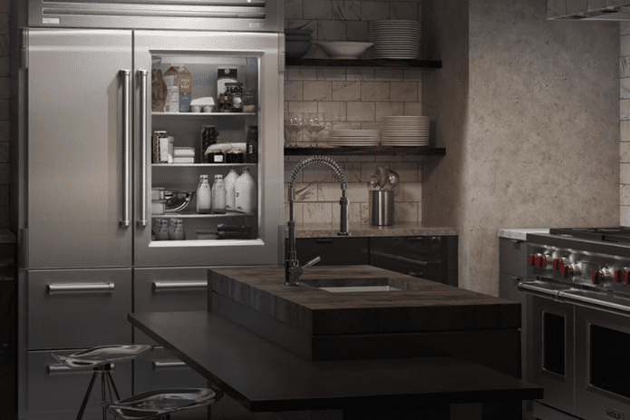 silver and grey kitchen