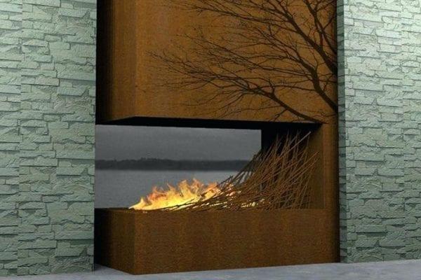 burning branch fireplace
