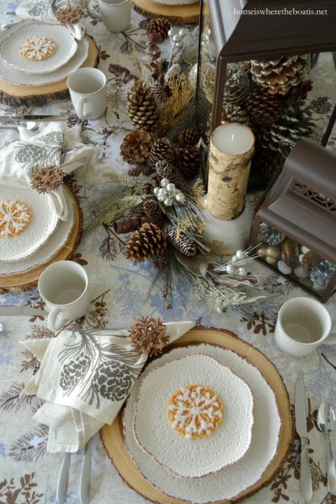 cream tablescape