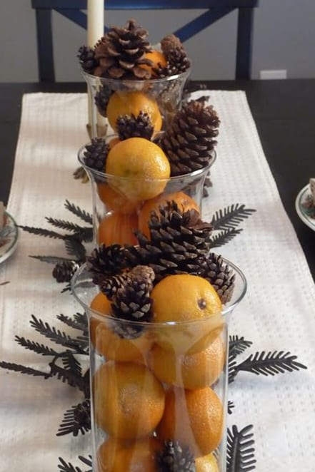winter themed table centerpieces