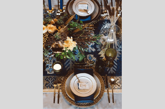 brown tablescape