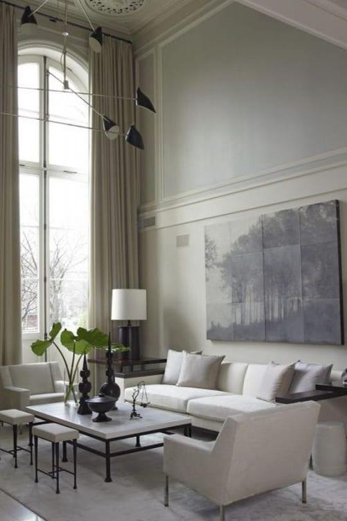 gray art on wall