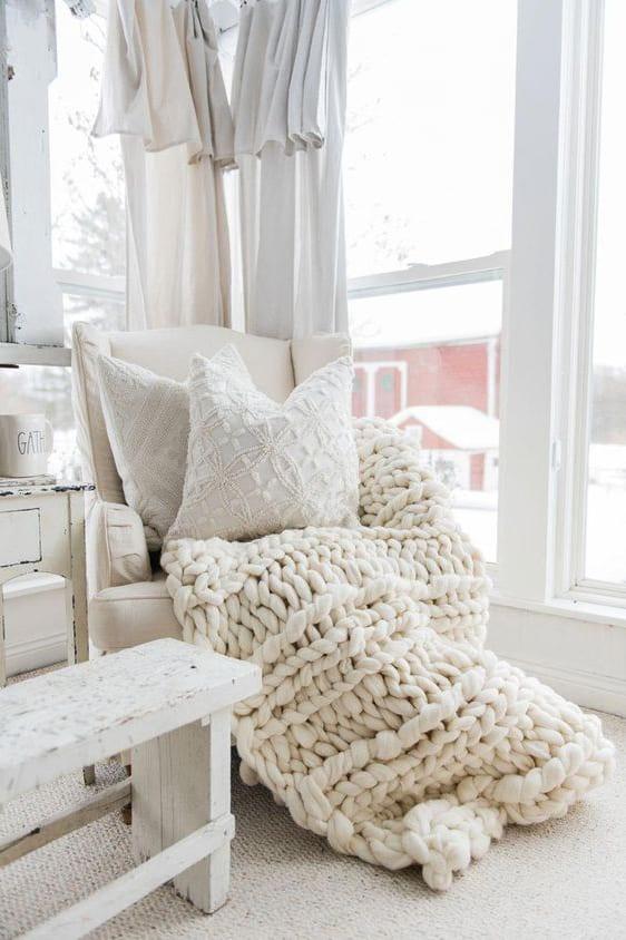 pillow on blanket
