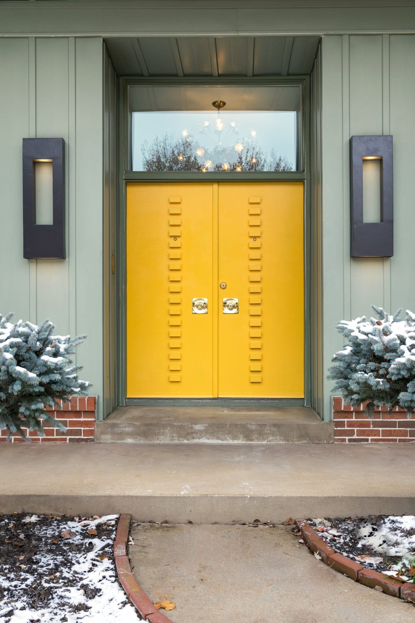 yellow entry door