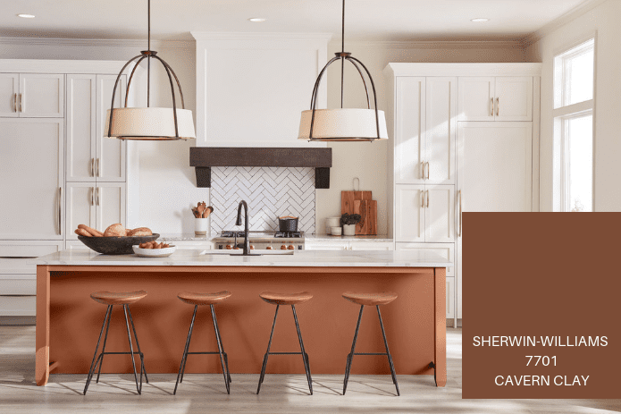 clay colored kitchen