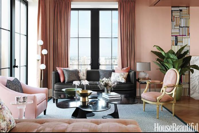 pink living space