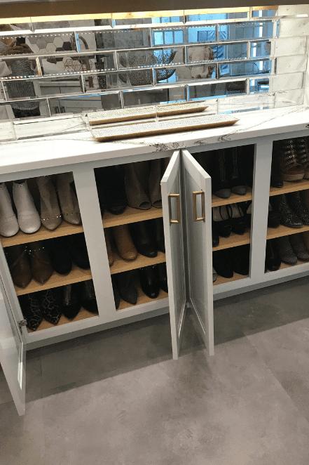 open shoe cabinet