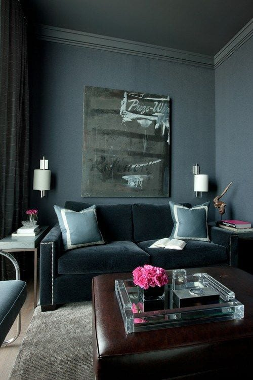 grey living space