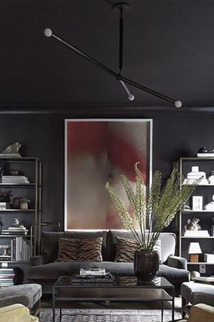 dark walls living room
